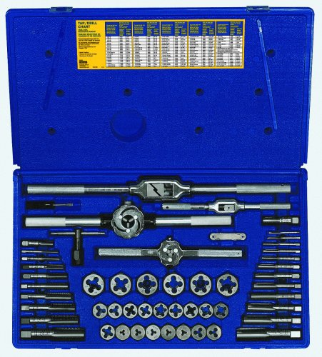 IRWIN Tap And Die Set, Fractional, 53-Piece (24640)