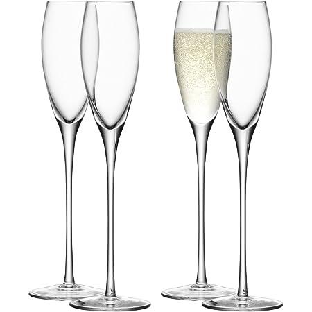 LSA International Wine Champagne Flute (4 Pack), 5.4 fl. oz., Clear