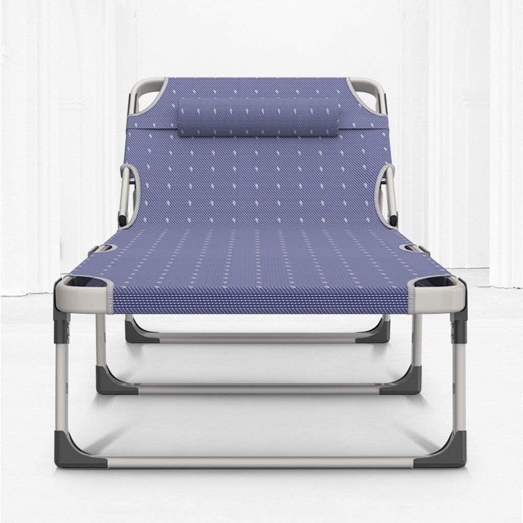 Chaise Longue Pliante, Fauteuils Inclinables Pour La Maison Déjeuner Portable Lit Multifonction Individuel Siesta Loisirs Chaise Bureau (Couleur : C) A