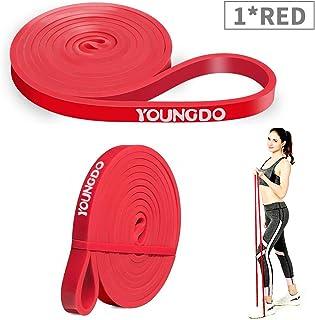 comprar comparacion YOUNGDO Bandas de Resistencia Cintas Elásticas Fitness para Musculación, Yoga, Crossfit, Entrenamiento de Fuerza, Pilates,...