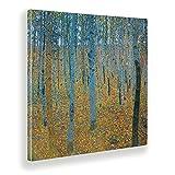 Giallobus - Gemälde - Gustav Klimt - Buchenwald - Leinwand - 100x100 - Bereit zum Aufhängen - Moderne Gemälde für zu Hause