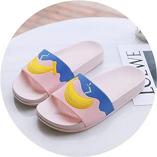 Cartoon Fruit 2018 Women Slippers Watermelon Banana Platform Home Slippers Summer Sandals