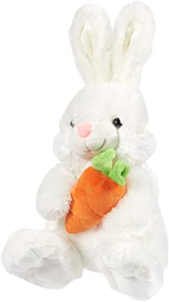 Blue Panda Bunny Plush - Thumper The Bunny, Stuffed Animal for Kids, Soft Rabbit Stuffed Toy, Cute Plushies for Easter Gifts, White, 7.5 x 13 x 8 Inches