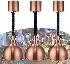 sahadsbv Lampe chauffante pour Aliments, Lampe Chauffe-Plats pour Restaurant Buffet Commercial pour Steak de Pizza, Lampe ...