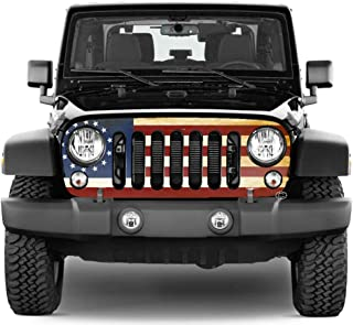 Jeep Wrangler Grill Wraps - Betsy Ross American Flag - 2007-2018 JK
