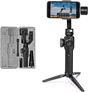 Zhiyun Smooth 4 3 Axis Handheld Gimbal Stabilizer for iPhone X 8 7 Plus 6 Plus Samsung Galaxy S8+ S8 S7 Huawei P20 P20 Pro Smartphones Vertigo Shoot Phonego Mode Focus Pull & Zoom Capability (Black)