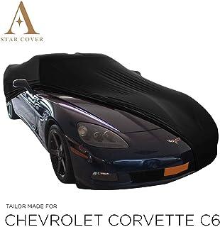 AUTOABDECKUNG SCHWARZ PASSEND FÜR Chevrolet Corvette C6 GANZGARAGE INNEN SCHUTZHÜLLE ABDECKPLANE SCHUTZDECKE Cover