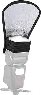 pangshi Flash Diffuser Reflector Two-Sides Silver/White Bounce for Speedlite Nikon SB-600, SB-800, SB-900, Canon 380EX 430EX 550EX 580EX Vivita Flash Sunpack Nissin Sigma Sony Pentax Olympus Yongnuo