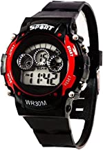 Maa Creation Red 7 Light Digital Watch for boy