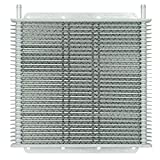 Flex-a-lite (400130) Stacked Plate 30-Row Transmission Cooler, 11 x 10 x 3/4' with 3/8 inch Barbed Fittings