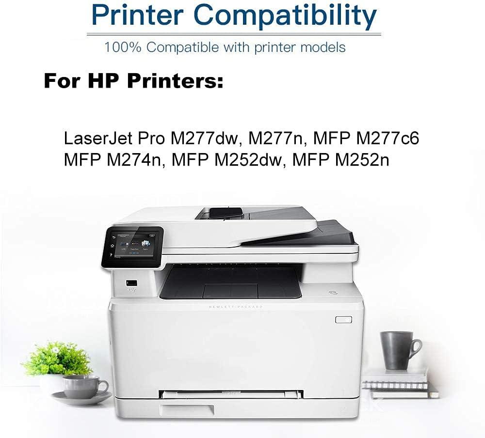 1-Pack (Magenta) Compatible High Yield 201X (CF403X) Printer Toner Cartridge use for HP MFP M252DN MFP M252DW MFP M252N MFP M274N Printers