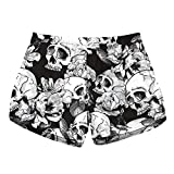 Beyond_AV® Women Fast Drying Beach Shorts (Skull 5, L UK 10-12)