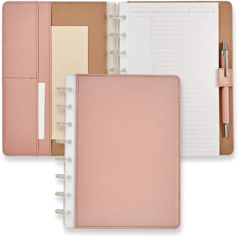 Levenger Circa 日本製 Carrie Foldover Notebook - 無料 Blush Junior