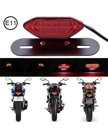 para Yamaha FZ-07 YZF-R25 YZF-R3 MT-25 MT-03 MT-07 Y15ZR LC150 QOHFLD Luces de Freno traseras con luz Trasera para Motocicleta con se/ñales de Giro