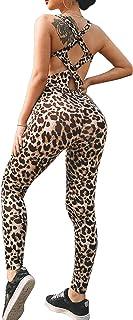 YOFIT Womens Butt Lift Yoga Jumpsuit Sleeveless Backless Bandage Romper Playsuit
