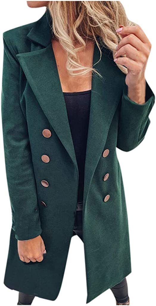 TWGONE Challenge the lowest price Trench Coats Directly managed store for Women Womens Blazer Length Woman Long Ar