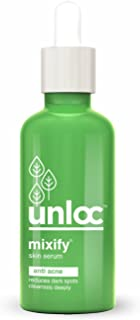 MIXIFY® Unloc Anti Acne (Acne & Dark Spots Removal) Face Serum with AHA, BHA, Tea Tree Oil and natural plant extracts of Licorice (30 ml) | Paraben Free | Sulphate Free