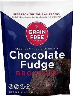 Gluten Free Fudge Brownie Baking Mix by The Grain Free Baker- Vegan & Gluten Free - Low Carb - Top 8 allergen free - Healt...