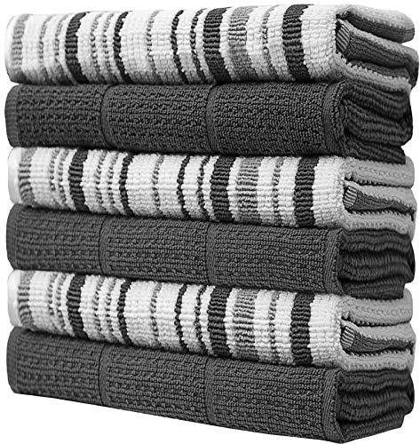 Bumble Towels 6 PK Hilo teñido Rayas con Toalla de Cocina s
