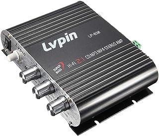 KKmoon Mini HIFI Áudio Amplificador de Potência Estéreo Subwoofer MP3 Canais de Rádio de Carro 2 Doméstico Super Bass Lvpi...