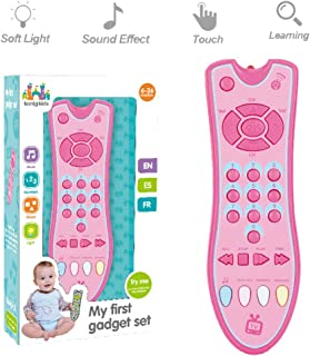 HUADADA Kids Musical TV Remote Control Toy , Music| Early Educational Learning Toys for Baby 8M -12M -24M My First | Click& Count for Role-Play Fun Toy for One Year Old