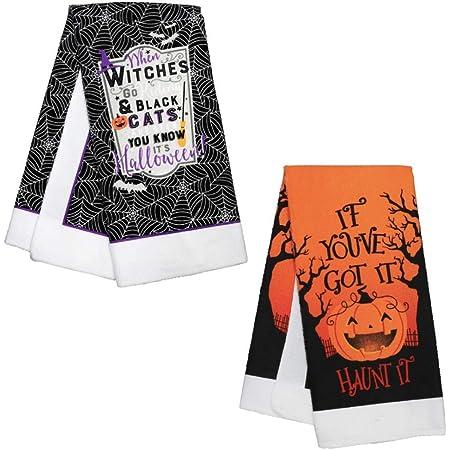 Halloween Decor Quarantine Halloween KitchenBath Hand Towel Halloween Tea Towel Hostess Gift Halloween Gift Quarantine-O-Ween Towel