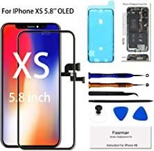 Fixerman for iPhone Xs OLED [NOT LCD] Screen Replacement 5.8 inch, 3D Touch Display Digitizer Assembly with Repair Tools, Compatible with Model A1920, A2097, A2098, A2100