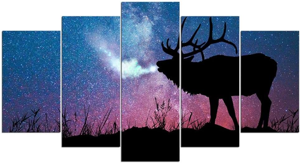 Home Decor Living Philadelphia Mall Room Pictures 5 Piece Deer Pa Wall Art Long Beach Mall Stag In