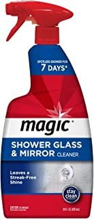 Magic Shower Glass and Mirror Cleaner - 28 Ounce - Removes Soap Scum Mildew and Mold Get a Crystal Streak-Less Shine