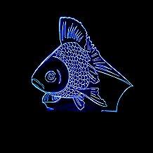 JYHW kinderslaapkamer verlichting nieuw goudvis LED nachtlampje kleurverandering 3D gouden vis tafel bureaulamp Kerstmis N...