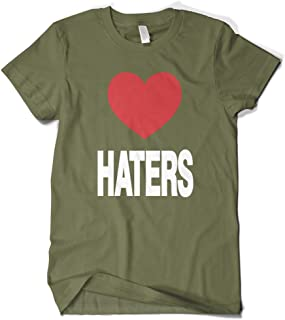 Men's Love Haters, Funny Red Heart T-Shirt