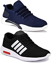 WORLD WEAR FOOTWEAR Men Multicolour Latest Collection Sports Running Shoes - Pack of 2 (Combo-(2)-9069-9063)