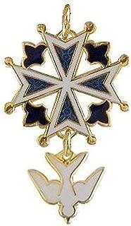 Chuck Norton Enamel Huguenot Cross Pendant