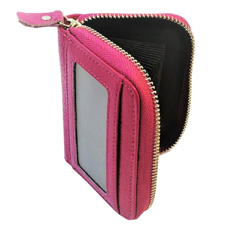 Caro カードケース 本革 じゃばら 大容量 クレジット かわいい 財布 [ メンズ レディース 兼用 ic カード ホルダー付き ]