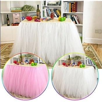 Joybuy mesa de tutú de tul falda de tul faldas para decoración de ...