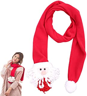 Christmas Holiday Santa Claus Scarf Christmas Scarf Winter Snowman/Elk Scarves for Adult & Children