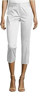 Lafayette 148 New York Polished Cropped Pants, White, Petite 2
