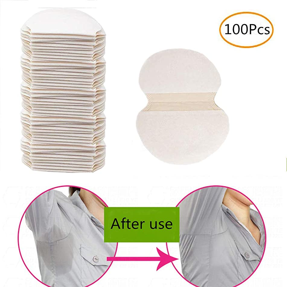 Underarm Armpit Sweat Pads Disposable Underarm Sweat Guard Pad Armpit Sheet Liner Clothing Shield - Fight Hyperhidrosis With Underarm Sweat Pads [ 100 Pack / 50 Pairs ]
