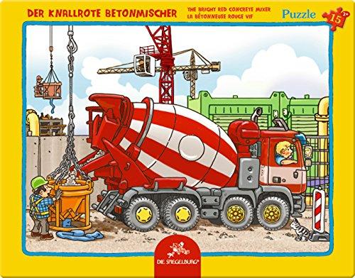 Rahmenpuzzle Der knallrote Betonmischer (15 Teile)