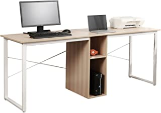 Soges 2-Person Home Office Desk,78 inches Large Double Workstation Desk, Writing Desk with Storage, HZ011-200-MO