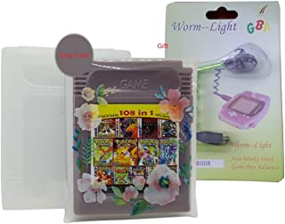 108 in 1 Game Boy COLOR GBC Multi Cart Snow Bros / kof 95 / Mega Man / Pokemon English Version With GBA Worm Light