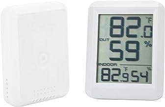 Asixxsix Termómetro Digital higrómetro, Mini medidor de Temperatura y Humedad inalámbrico portátil inalámbrico, para Exteriores Interiores
