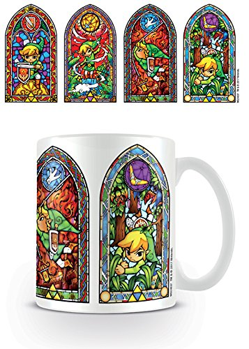 The Legend of Zelda Vitraux Link Mug, Céramique, Multicolore, 315 ml/11 oz