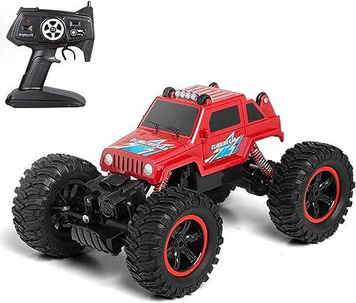 PETRLOY rot Radio Remote Control Auto Aufladbare 4WD High Speed  rifürock Crawler Climber 1 16 Ma ab 2,4 GHz Ofüroad Monster Truck RC fürzeug für Kinder und Erwachsene Interessante Belohnung