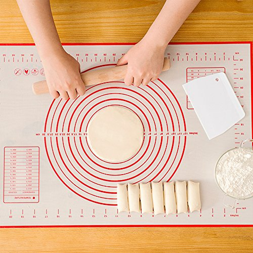 Silicone Baking Mat Pastry Mat Large Counter Mat Non-Stick with Measurements for Baking -Dough Rolling Mat, Heat-Resistance Oven Liner, Fondant Mat, Pie Crust Mat (16'x 24')