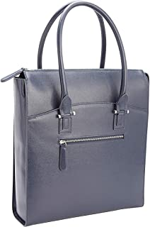 Royce Leather Rfid Blocking Travel Carryall Laptop Tote Bag In Saffiano Leather (RFID-232-BLE-2), Blue