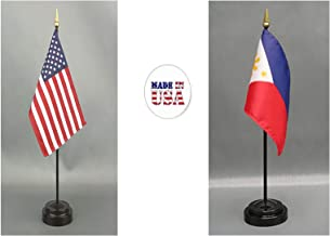 Made in The USA. 1 American and 1 Filipino Rayon 4