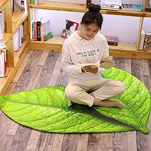 Portonss Plante Serie Pad Nonslip Yoga Mat Green Linden Deja Deja DE Deja DE LA Decoración del hogar 55 cm