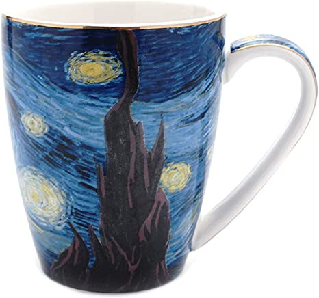 Amazon Com Coffeezone Vincent Van Gogh Art The Starry Night Porcelain Coffee Mug 14 Oz Kitchen Dining