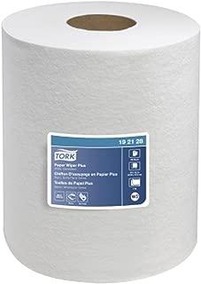 Tork 192128 Paper Single-Ply Centerfeed Wiper Plus Bath Tissue, White